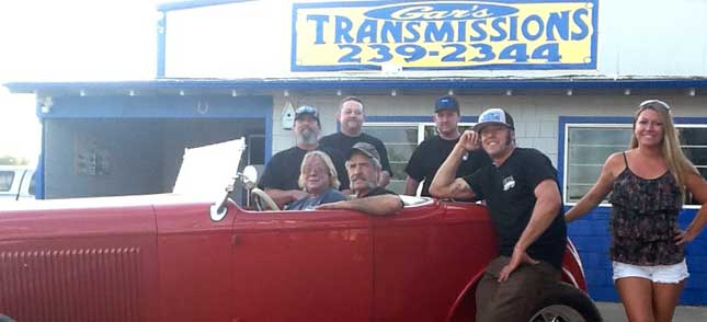 Gar's Transmission Repair Team and Family